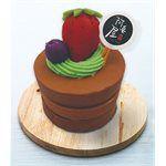 A Tsao House - 圓形蛋糕皂三層草莓可可-100g