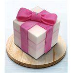A Tsao House - 方形蛋糕皂蝴蝶結- 粉紅-100g