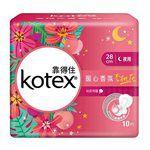 Kotex - 暖心香氛杏桃花衛生棉夜用超薄- 28cm-10片