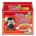 湯 / 乾拌麵 - Samyang三養 火辣雞肉風味鐵板炒麵(辣炒年糕甜辣風味)-5包/袋