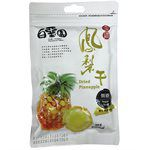MyHuo Recommended Snacks - 台南白堊園 無糖金鑽鳳梨干-100g