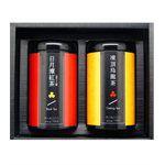 茶粒茶 - 黑鐵罐雙入禮盒-日月潭紅茶/凍頂烏龍-2入