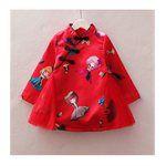 買貨小東西 - 旗袍領中國風拼接側邊紗裙洋裝 寶寶旗袍裝