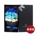 MYHUO LifeStyle - VENCEDOR 18朵香皂玫瑰花束- 漸變藍(愛無法自拔)-1入