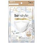 日本直購專區 - 白元FACE FIT立體防脫妝小顏口罩- 白色-5入/包