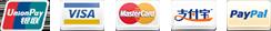 visa mastercard alipay paypal unionpay